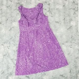 Athleta 4p Dress Purple Floral Nearly Knotical